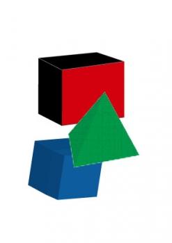 立体丸三角四角イラレ