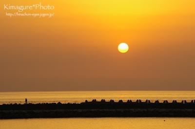 双海町 上灘 夕日