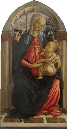バラ園の聖母子