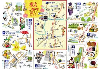 横浜七福神めぐりマップ