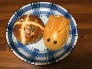 幸運のイースターのパン