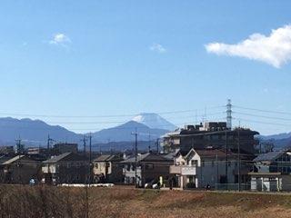 日野七福神めぐりで見えた富士山