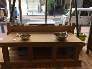青竹打ち麺作り体験