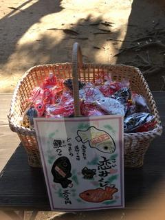 麻賀多神社の鯉みくじ