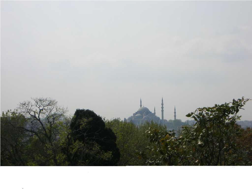 トプカプ宮殿から見たブルーモスク