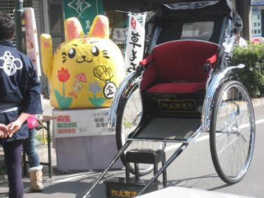 桐生市歩行者天国の人力車