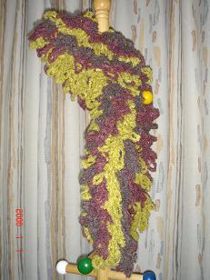 手編みマフラー1