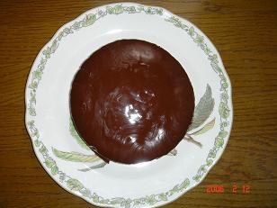 バレンタイン用チョコケーキ1 H18.2.12