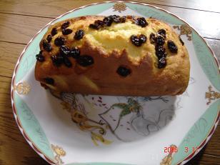 パウンドケーキを焼いたよ 2002.3.11
