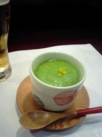 グリーンピースの茶碗蒸し