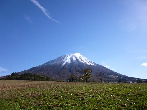 雪化粧の大山