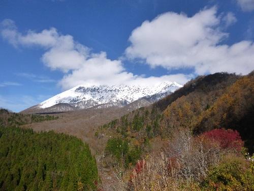 雪化粧の大山(鍵掛峠)