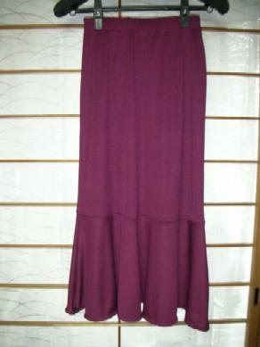 赤紫裾フレアースカート