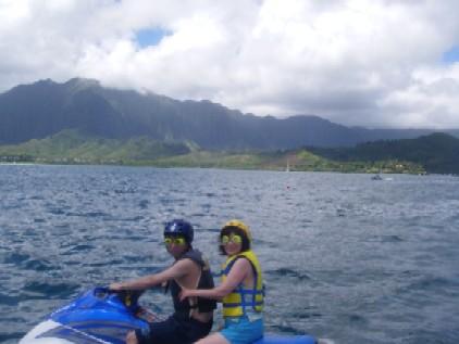 ジェットスキー(ハワイ時間7日)