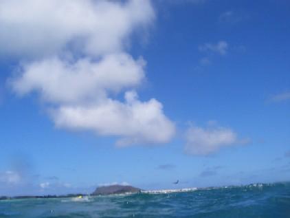 MARINスポーツをする場所へ向かう途中の船から(ハワイ時間7日)