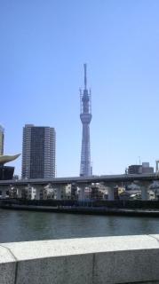 吾妻橋から見たスカイツリー