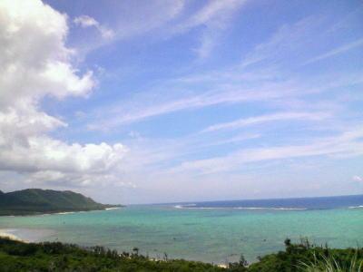 玉取崎展望台から見た海