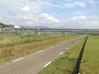 南阪奈道を見る(羽曳野から富田林に向かって)