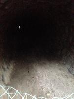 手掘りトンネルの中の様子
