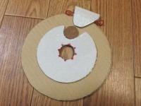 大円と小円を貼り合わせ、ロック機構のパーツを作成