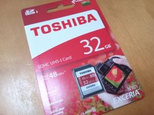 東芝・SDHCカード32GB Class10