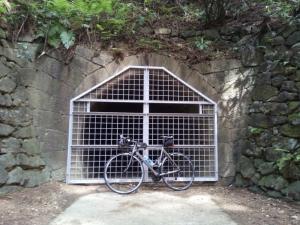 細川柱本隧道(手掘りトンネル)前