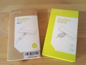 WSKEN・X-cableのMini2(左)と従来品(右)