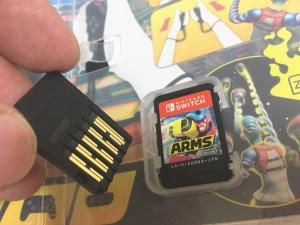 Switchゲームソフトは小さい