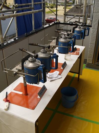 ベランダ実験設備
