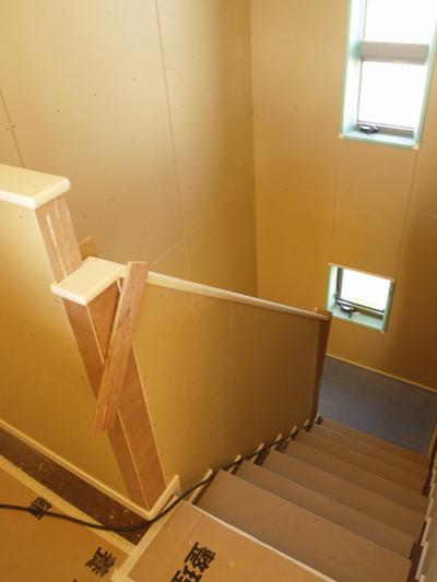階段室のボード完成