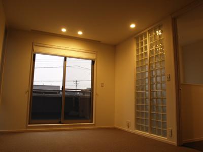 寝室ガラスブロック