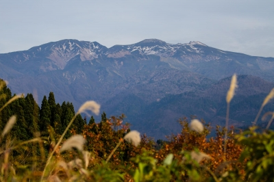 西山から白山