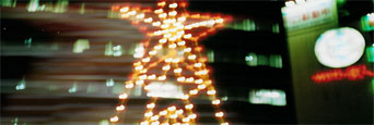 クリスマス夜景写真