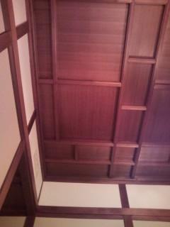 奈良ホテル本館の天井