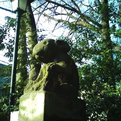 調神社・狛犬ならぬ狛うさぎ