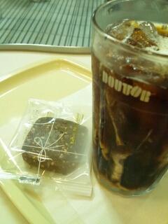ドトールコーヒーとクッキー