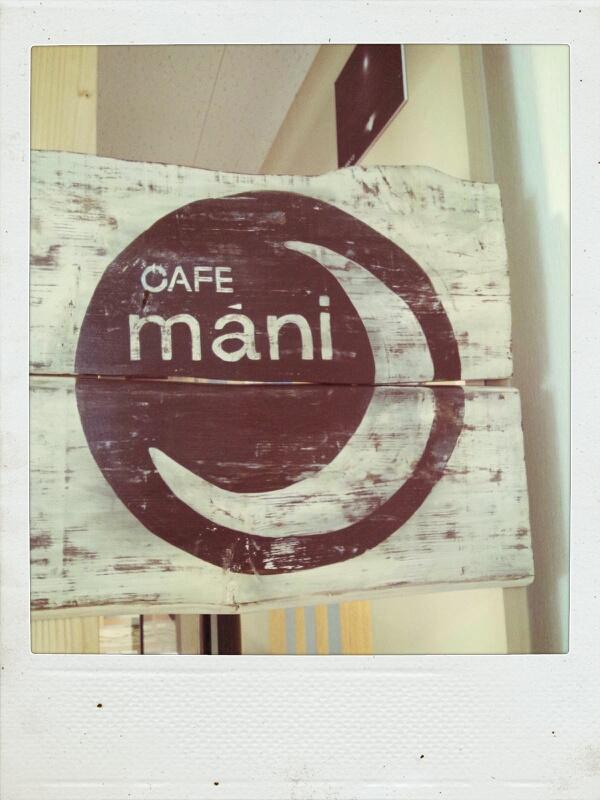 しあわせのパン カフェ「マーニ」の看板