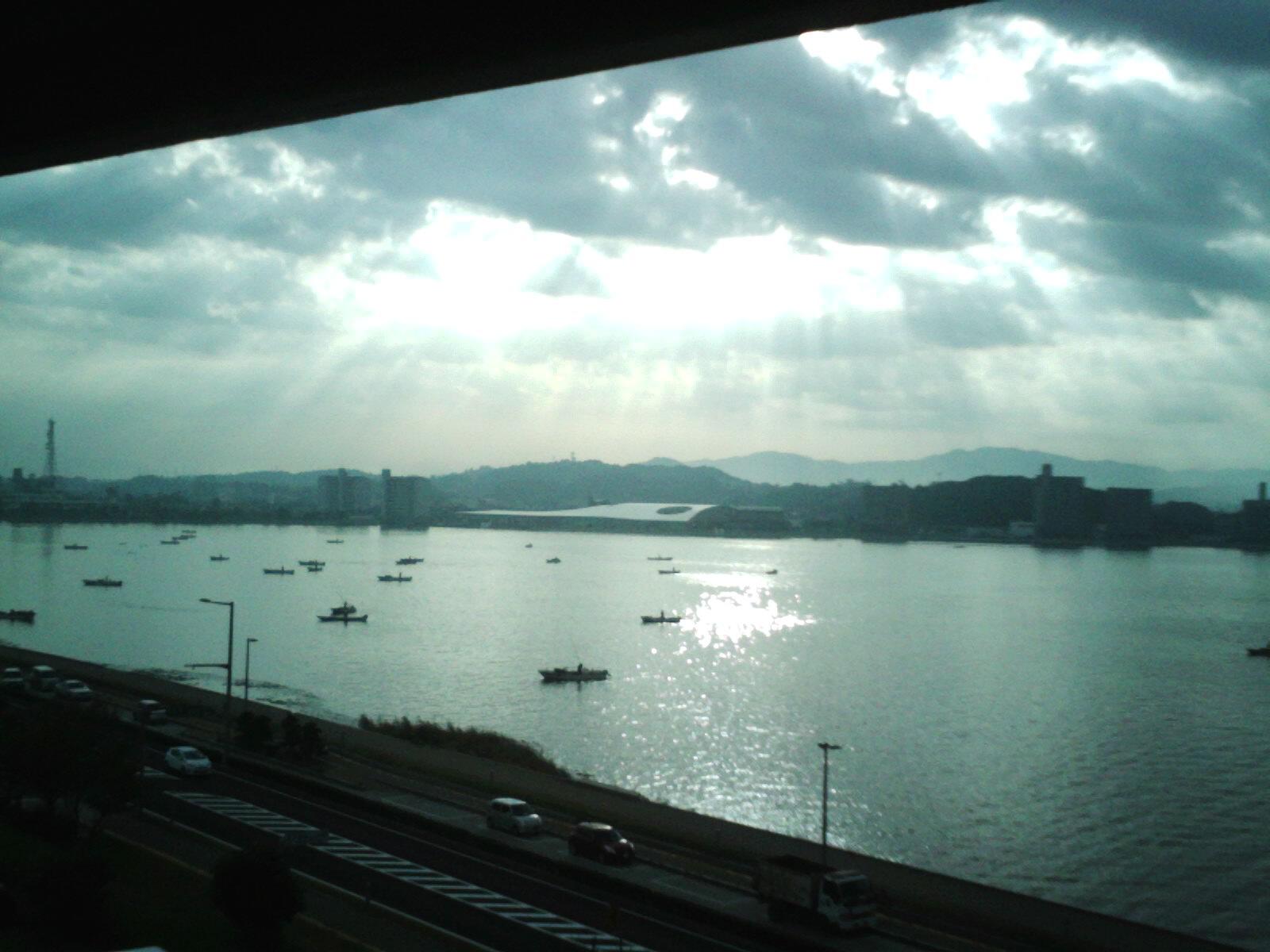 宍道湖朝の風景