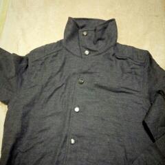 無印メンズパジャマ+アンティークボタン=ジャケット