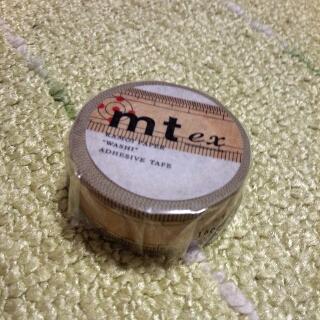 竹定規のマスキングテープ