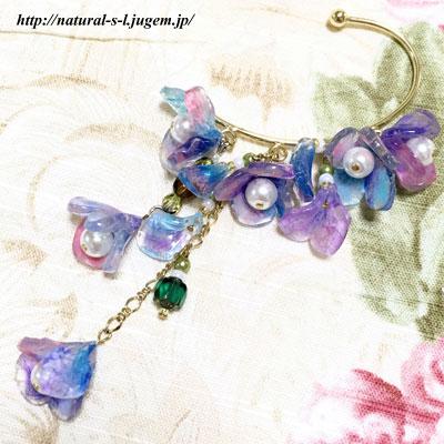 紫陽花のイヤーフック