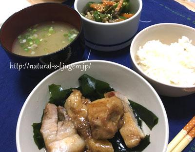 鶏肉メインの晩ご飯