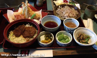 天ぷらと越前そば&ソースカツ丼
