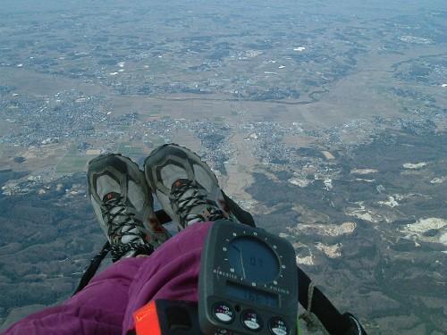 加波山上空1667メートル