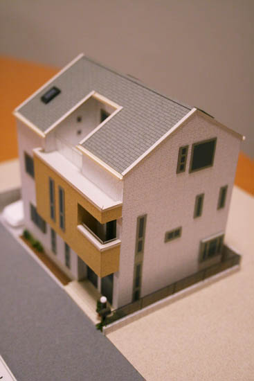 マイホームの模型