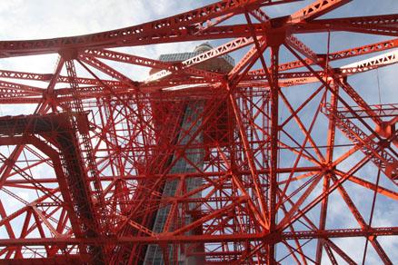 東京タワーのほぼ真下