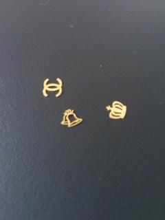 シャネルのロゴ ネイルパーツ