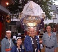 市川・春日神社祭にて