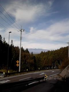 トンネル入り口からの那須山の眺め