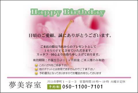 お誕生日はがき HZ-1